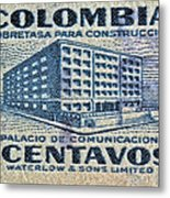 1952 Columbian Stamp Metal Print