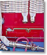 1952 L Model Mack Pumper Fire Truck Hoses Metal Print