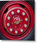 1952 L Model Mack Pumper Fire Truck Wheel Metal Print