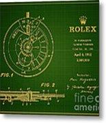 1952 Rolex Calendar Timepiece 1 Metal Print