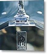 1952 Rolls-royce Hood Ornament Metal Print
