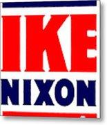 1952 Vote Ike And Nixon Metal Print