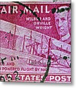 1952 Wright Brothers Stamp Metal Print