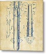 1953 Aerial Missile Patent Vintage Metal Print