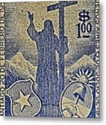 1953 Chile Stamp Metal Print