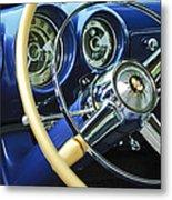 1953 Desoto Firedome Convertible Steering Wheel Emblem Metal Print