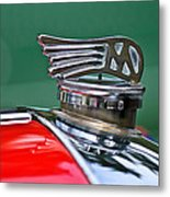 1953 Morgan Plus 4 Le Mans Tt Special Hood Ornament Metal Print by Jill Reger