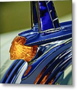 1953 Pontiac Hood Ornament 3 Metal Print by Jill Reger
