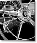 1953 Pontiac Steering Wheel 2 Metal Print