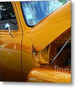 1954 Chevrolet And A 1963 Lemans Reflection Metal Print