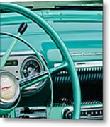 1954 Chevrolet Belair Steering Wheel 3 Metal Print