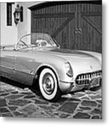 1954 Chevrolet Corvette -203bw Metal Print