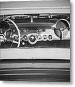 1954 Chevrolet Corvette Steering Wheel -139bw Metal Print