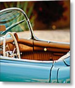 1954 Chevrolet Corvette Steering Wheel -407c Metal Print