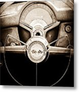 1954 Chevrolet Corvette Steering Wheel Emblem Metal Print