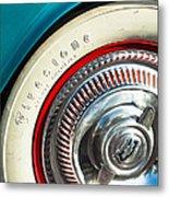 1954 Chevrolet Corvette Wheel Emblem -290c Metal Print