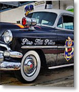 1954 Chevy Dare Police Car  Pine Hill  Nj Metal Print