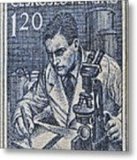 1954 Czechoslovakian Scientist Stamp Metal Print