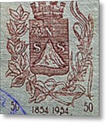 1954 El Salvador Stamp Metal Print
