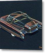 1954  Ford Cougar Experimental Car Concept Design Concept Sketch Metal Print