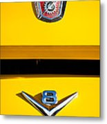 1954 Ford F-100 Custom Pickup Truck Emblems Metal Print