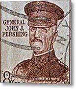1954 General John J. Pershing Stamp Metal Print