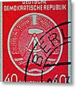 1954 German Democratic Republic Stamp - Berlin Cancelled Metal Print