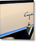 1954 Lincoln Capri Convertible Emblem 2 Metal Print by Jill Reger