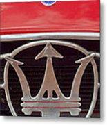 1954 Maserati A6 Gcs Emblem Metal Print by Jill Reger