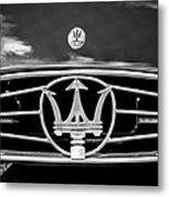 1954 Maserati A6 Gcs Grille Emblem -0259bw Metal Print