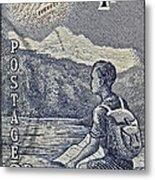1954 Mount Aspiring New Zealand Stamp Metal Print