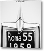 1955 Alfa Romeo 1900 Css Ghia Aigle Cabriolet Grille Emblem - Super Sprint Emblem -0601bw Metal Print