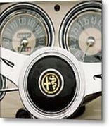 1955 Alfa-romeo 1900 Css Ghia Aigle Cabriolet Steering Wheel -2254 Metal Print