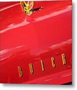 1955 Buick Roadmaster Hood Ornament - Emblem Metal Print