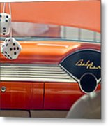 1955 Chevrolet Belair Dashboard Metal Print