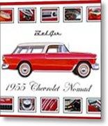 1955 Chevrolet Belair Nomad Art Metal Print