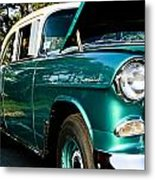 1955 Chevy Bel Air Down The Side Metal Print