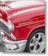 1955 Chevy Cherry Red Metal Print