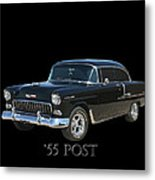 1955 Chevy Post Metal Print