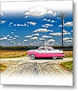 1955 Ford Crown Victoria Crossroads In Life Metal Print