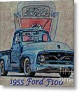 1955 Ford F100 Illustration 2 Metal Print
