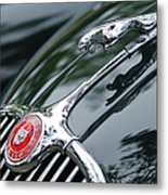 Jaguar Xk 150 Hood Ornament  Metal Print