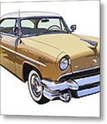 1955 Lincoln Capri Fine Art Illustration  Metal Print