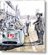 1955 Mercedes Benz W 196 Str Stirling Moss Italian Gp Monza Metal Print