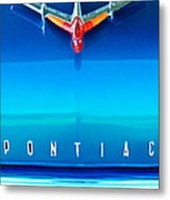 1955 Pontiac Safari Hood Ornament 4 Metal Print