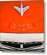 1955 Studebaker Champion Conestoga Custom Wagon Hood Ornament - Grille Emblem -0325c Metal Print