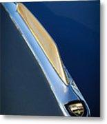 1955 Studebaker President Hood Emblem Metal Print by Jill Reger