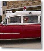 1955 Superior Cadillac Passenger Ambulance Metal Print