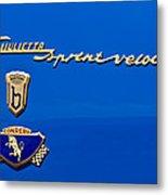 1956 Alfa Romeo Sprint Veloce Coupe Emblem Metal Print