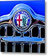 1956 Alfa Romeo Sprint Veloce Coupe Ultra Light Grille Emblem Metal Print